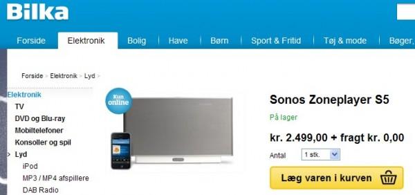 Sonos ZPS5 nedsat til kr. 2499 hos Bilka
