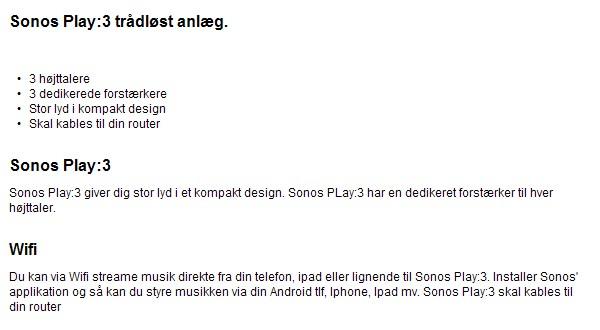 Bilka Sonos Play:3 #FAIL